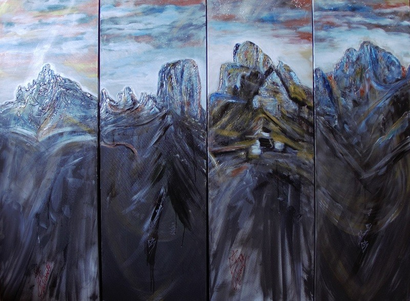 Oil on canvas 150 x 200 cm. Cod. pa013