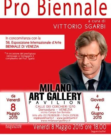 """.8 maggio al 4 giugno 2015 – """"Pro Biennale Venezia""""- MAG – Calle dei Cerchieri Dorsoduro 1270 – Venezia"""