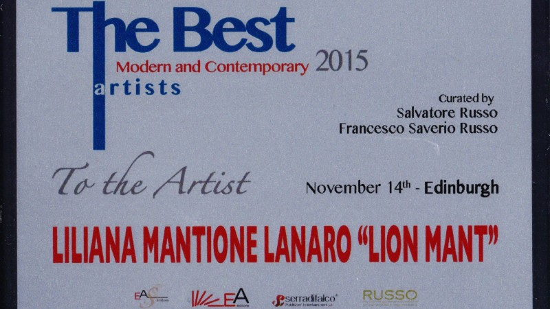 ".14 novembre 2015 -""The Best Artist Modern Contemporary – EDINBURGH"""