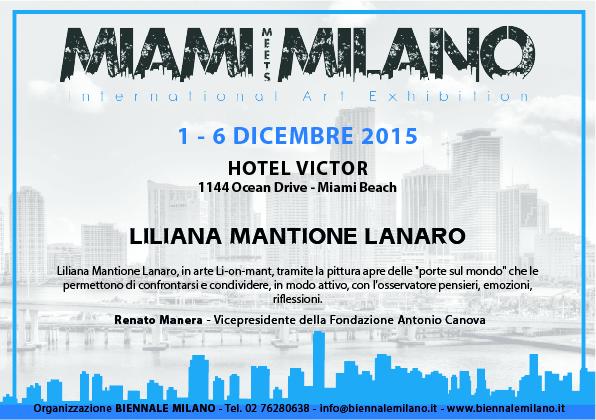 ".1 al 6 dicembre 2015-""MIAMI meets MILANO-International Art Exhibition-MIAMI"""