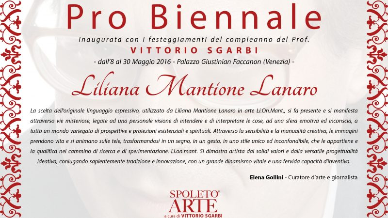 """.8 maggio 2016-""""Probiennale"""" Mostra a Palazzo Giustinian Faccanon di Venezia"""